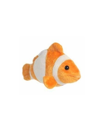Plyšová oranžová rybka Klaun očkatý - Flopsie (20,5 cm)