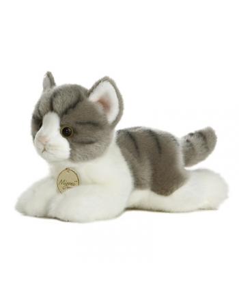 Plyšové mačiatko sivé - Miyoni - 20 cm