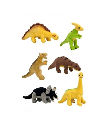 Plyšové mini dinosauři - sada 6 ks