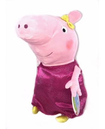 Plyšové prasiatko v ružových ligotavých šatách - Prasiatko Peppa (20 cm)