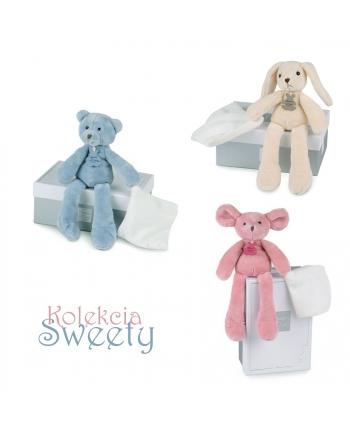 Plyšové zvieratko Sweety s dečkou v škatuľke - Histoire D´Ours (30 cm)