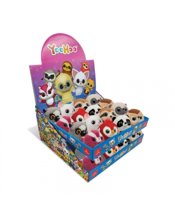 Plyšové zvieratko - Yoohoo Mini ball -  rôzne druhy - displej 32 ks