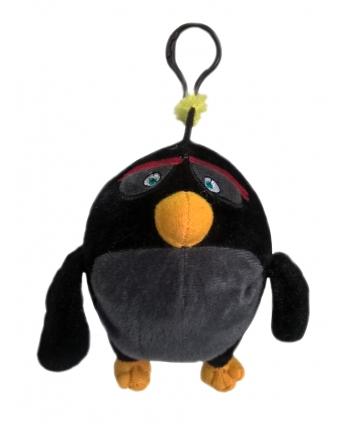 Plyšový Angry Birds Movie prívesok Bomb - čierny (15cm)