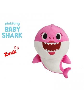Plyšový Baby Shark -  růžový se zvukem - 19 cm