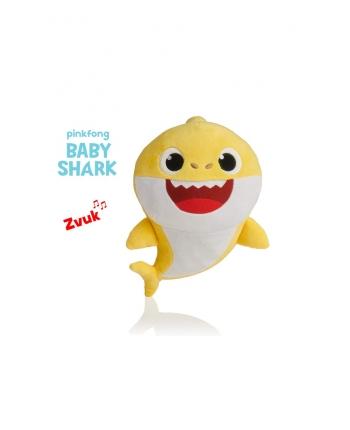 Plyšový Baby Shark - žltý so zvukom - 19 cm