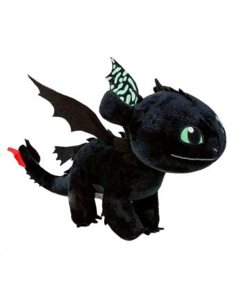 Plyšový drak Toothless so zelenými krídlami - Ako si vycvičiť draka 3 (40 cm)