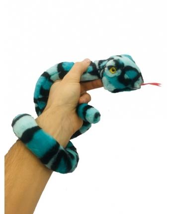 Plyšový had čierno-modý - 85 cm