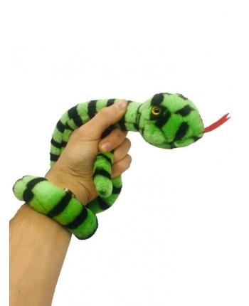 Plyšový had zeleno-čierny - 85 cm