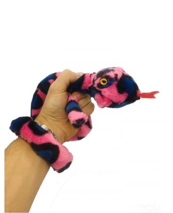 Plyšový had ružovo-čierny - 85 cm