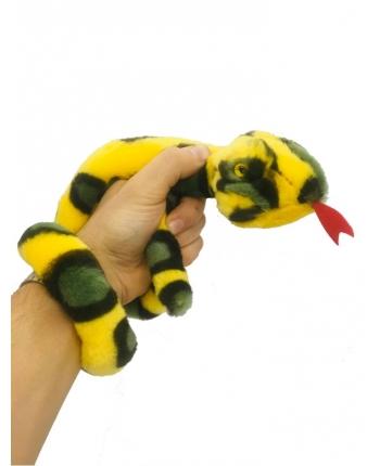 Plyšový had žlto-zelený - 85 cm