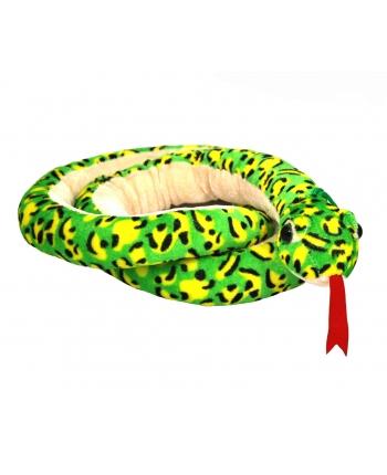 Plyšový had zeleno-žltý škvrnitý (180 cm)