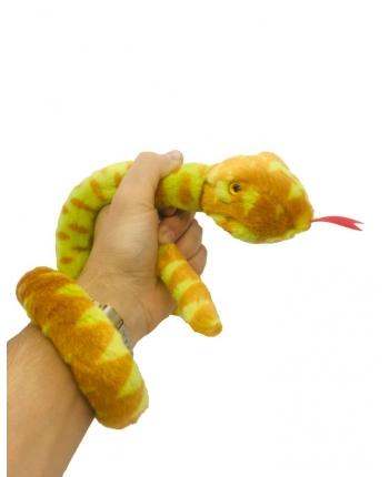 Plyšový had žltý - 85 cm