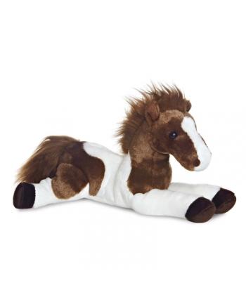 Plyšový koník hnedo-biely - Flopsie (30 cm)