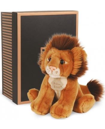 Plyšový lev v škatuľke Authentiques - Histoire D´Ours (20 cm)