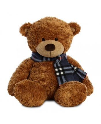 Plyšový medvedík hnedý so šálom - Bonnie (40,5 cm)