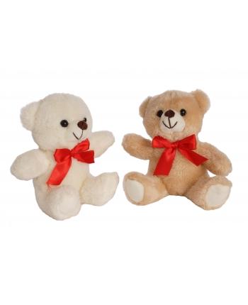 Plyšový medvedík s červenou mašľou (14 cm)