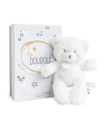 Plyšový medvedík Tendre v bielej škatuľke so svetielkami - Dou Dou (20 cm)