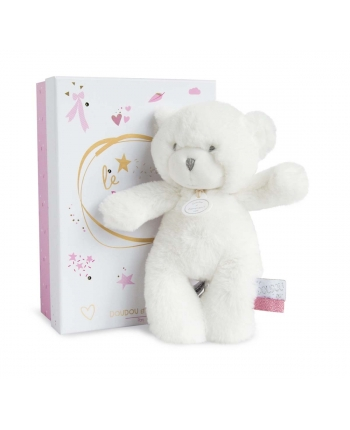 Plyšový medvedík Tendre v ružovej škatuľke so svetielkami - Dou Dou (20 cm)