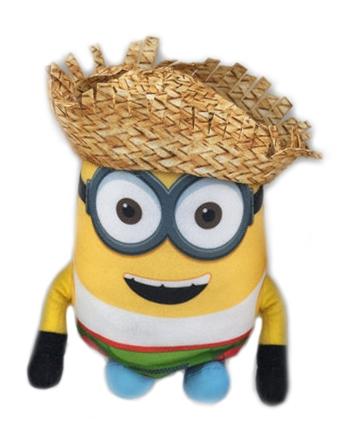 Plyšový Mimoň Dave v slamenom klobúku - Ja, zloduch 3 (22 cm)