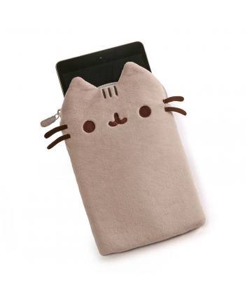 Plyšový obal na tablet 10´´ - mačička Pusheen (22 x 16 cm)