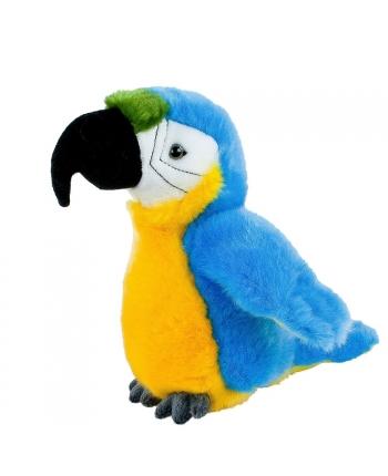 Plyšový papoušek žlto-modrý - Authentic Edition - 19 cm