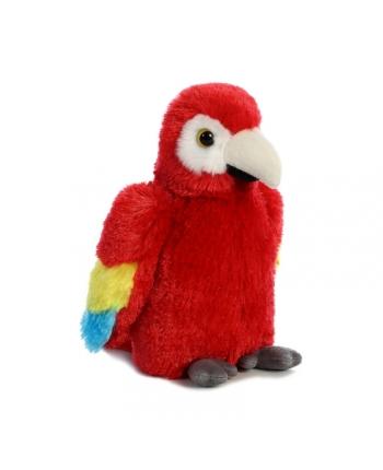 Plyšový papagáj Scarlet Macaw - Flopsie (20,5 cm)