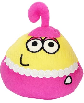 Plyšový POU - žltý s ružovou sukničkou (13 cm