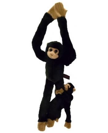 Plyšový šimpanz s mláďatkom (44 cm)