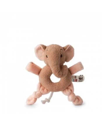 Plyšový sloník Ebu ružový - hŕkalka - WWF cub club - 16 cm