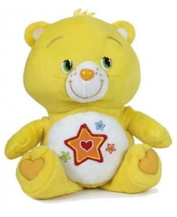 Plyšový starostlivý medvedík žltý - hviezdička (47 cm)