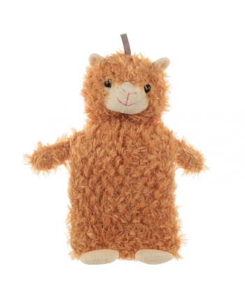 Plyšový termofor - Lama hnedá - 36 cm