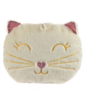 Plyšový termofor - Mačka béžová - 21 cm