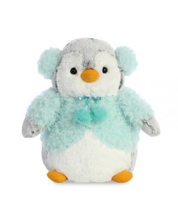 Plyšový tučniak v modrom kožúšku s brmbolcami - Pom Pom (22,5 cm)