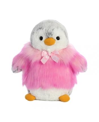 Plyšový tučniak v ružovom kožúšku - Pom Pom (22,5 cm)