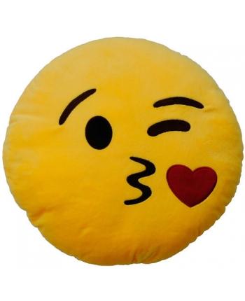 Plyšový vankúšik Emoticon Kiss (25 cm)