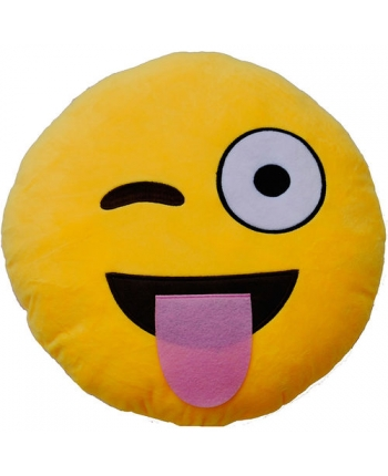 Plyšový vankúšik Emoticon Tongue (25 cm)