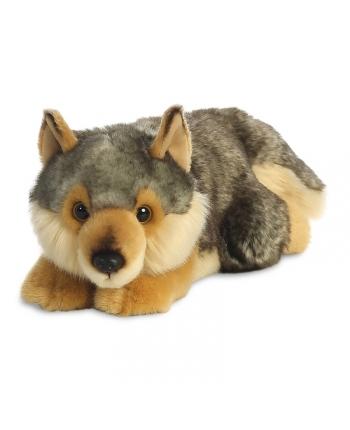 Plyšový vlk ležiaci - Miyoni (28 cm)