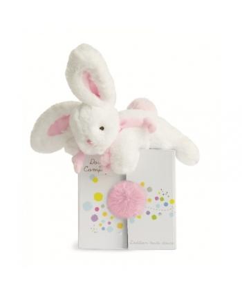 Plyšový zajačik bielo-ružový v škatuľke - Dou Dou (20 cm)