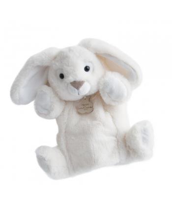 Plyšová maňuška zajačik biely - Histoire D´Ours (25 cm)