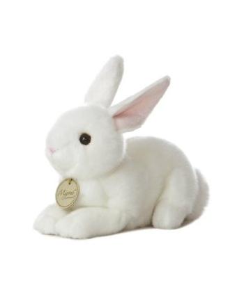 Plyšový zajačik biely - Miyoni (20,5 cm)