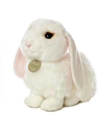 Plyšový zajačik biely sediaci - Miyoni (20,5 cm)