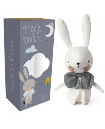 Plyšový zajačik biely v škatuľke - Picca Loulou (18 cm)