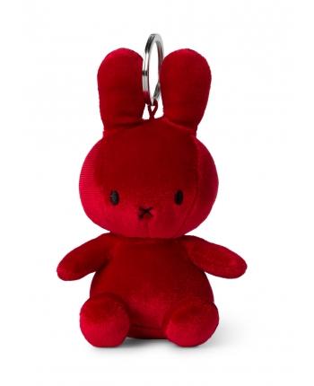 Plyšový zajačik cviklovočervený zamat - kľúčenka - Miffy (10 cm)
