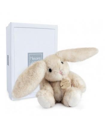 Plyšový zajačik Fluffy hnedý v škatuľke - Histoire D´Ours (27 cm)