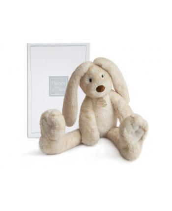 Plyšový zajačik s dlhými nohami Fluffy hnedý v škatuľke - Histoire D´Ours (38 cm)