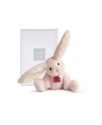 Plyšový zajačik Fluffy ružový v škatuľke - Histoire D´Ours (27 cm)