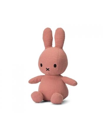 Plyšový zajačik hnedo-ružový - mušelín - Miffy  - 23 cm
