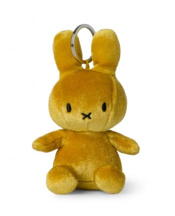 Plyšový zajačik horčicovožltý zamat - kľúčenka - Miffy (10 cm)