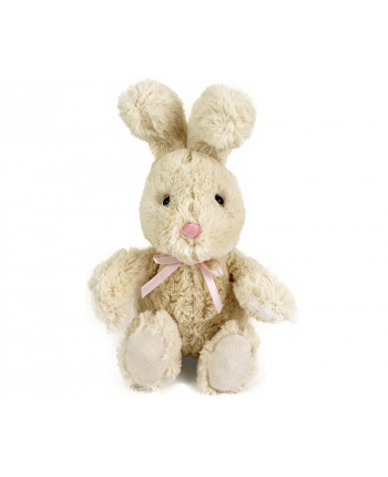Plyšový zajačik krémový sediaci (18 cm)