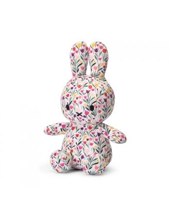 Plyšový zajačik kvetinový vzor - flanel - Miffy  - 23 cm